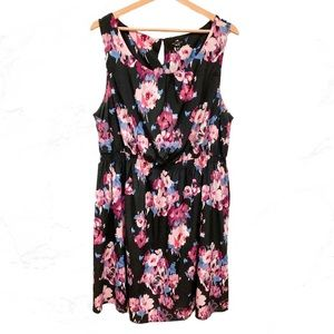 New Look Floral Cinched Waist Dress